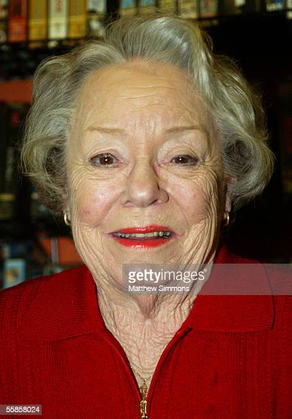 Actress Patricia Hitchcock O'Connell attends a Alfred Hitchcock DVD signing at Rocket Video on October 5 2005 in Hollywood California