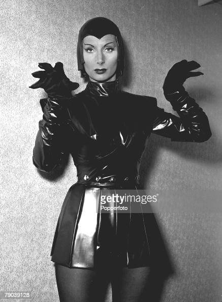 Actress Patricia Laffan, wearing a leather look outfit ... Patricia Laffan Photos