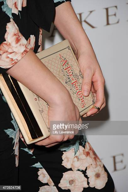 Actress Patricia Li Bryan purse detail attends BELLA Beauty Issue Party Hosted By Jordana Woodland at Naked Princess on May 7 2015 in West Hollywood...