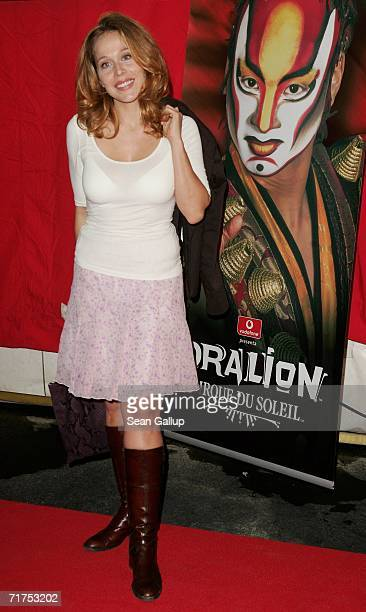 Actress Patricia Lueger arrives for the Dralion Cirque de Soleil circus premiere August 30 2006 in Berlin Germany