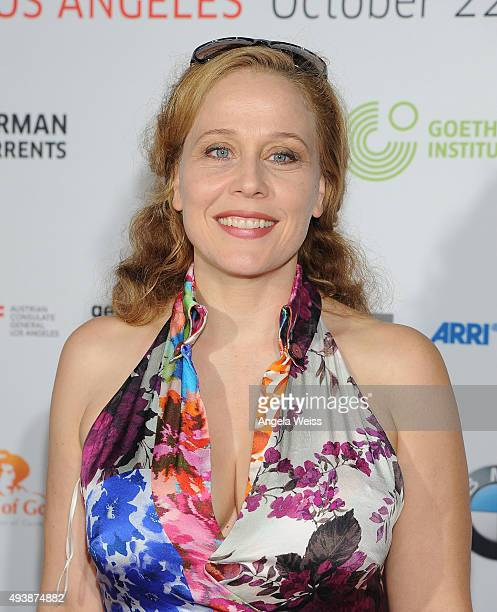 Actress Patricia Lueger attends the 9th annual German Currents Festival of German Film - opening night red carpet gala at the Egyptian Theatre on...