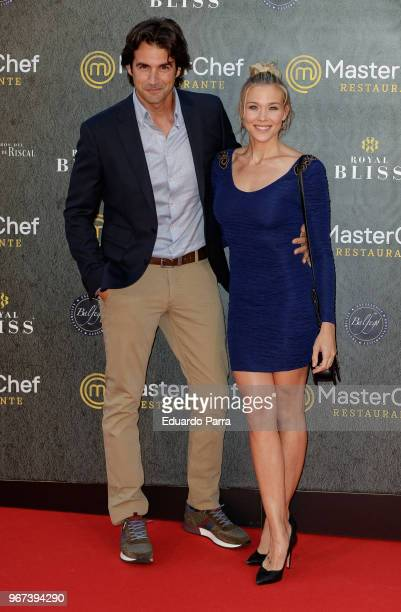 Actress Patricia Montero and actor Alex Adrover attend the 'Masterchef' restaurant opening photocall on June 4 2018 in Madrid Spain