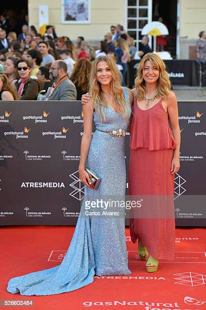 Actress Patricia Montero and director Ines Paris attend Nuestros Amantes premiere at the Cervantes Teather during the 19th Malaga Film Festival on...