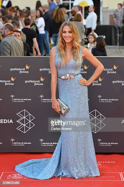 Actress Patricia Montero attends Nuestros Amantes premiere at the Cervantes Teather during the 19th Malaga Film Festival on April 30 2016 in Malaga...