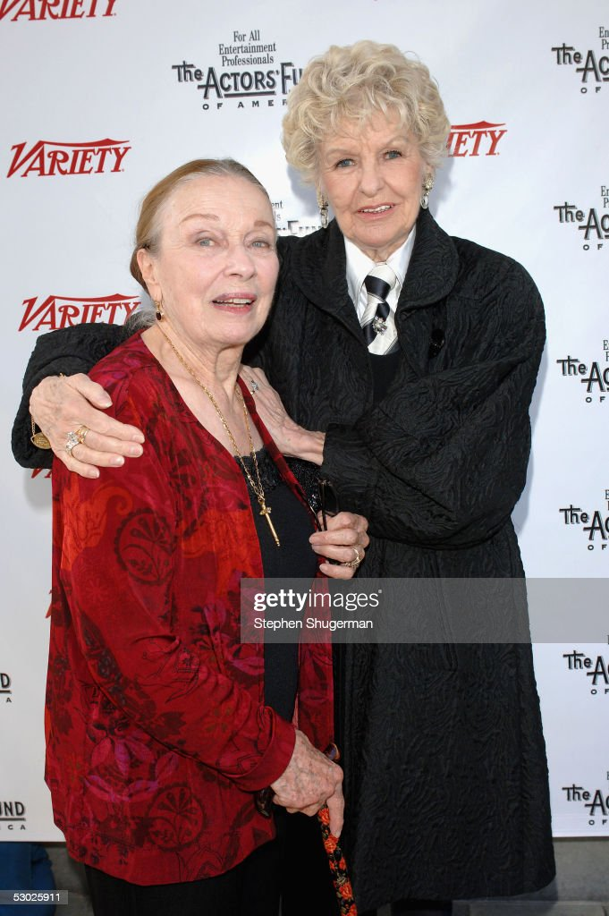 Actress Patricia Morison and actress Elaine Stritch attend The 2005 Tony Awards Party & 'The Julie Harris Award', which honored Stockard Channing, at the Skirball Center on June 5, 2005 in Los Angeles, California.