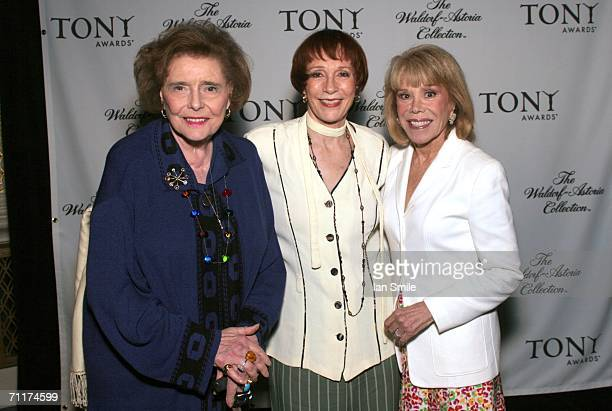 Actress Patricia Neal actress Patricia Elliot and American Theater Wing Chairman Sondra Gilman attend The Tonys Awards Honor Presenters And Nominees...
