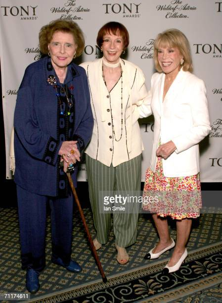 Actress Patricia Neal actress Patricia Elliot and American Theater Wing Chairman Sondra Gilman attend The Tony Awards Honor Presenters And Nominees...