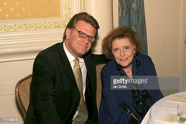 Actress Patricia Neal poses with a guest at The Tonys Awards Honor Presenters And Nominees at Waldorf Astoria in New York on June 10 2006 in New York