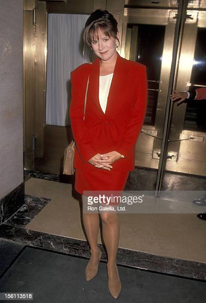 Actress Patricia Richardson on May 10 1994 leaving the Westbury Hotel in New York City New York