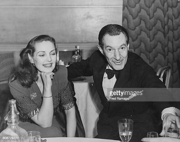Actress Patricia Roc and film director David MacDonald pictured at the supper party following the premiere of their film 'The Best Years of Our...