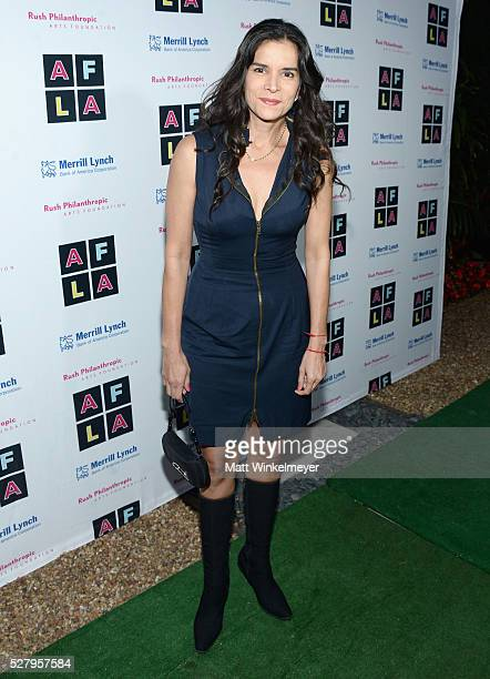 Actress Patricia Velasquez attends Russell Simmons' Rush Philanthropic Arts Foundation's inaugural Art For Life Los Angeles at Private Residence on...