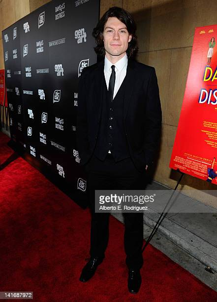 Actress Patrick Fugit arrives to the Premiere of Sony Pictures Classics' Damsels In Distress at the Egyptian Theatre on March 21 2012 in Hollywood...