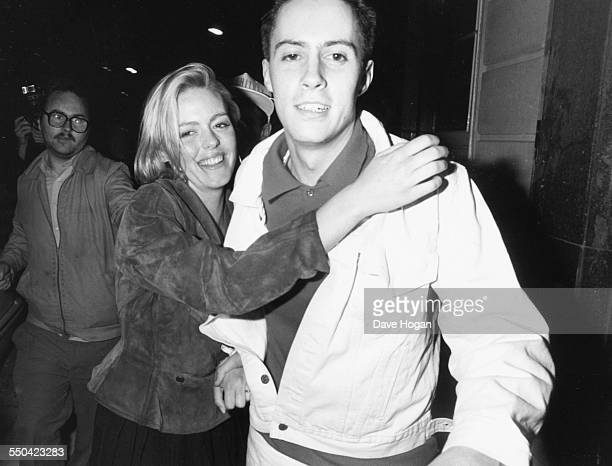 Actress Patsy Kensit and her husband Don Donovan attending a party held by Whitney Houston in London, May 16th 1988.
