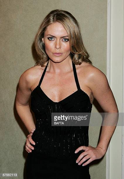 Actress Patsy Kensit poses backstage at the Pioneer British Academy Television Awards 2006 at the Grosvenor House Hotel on May 7, 2006 in London,...