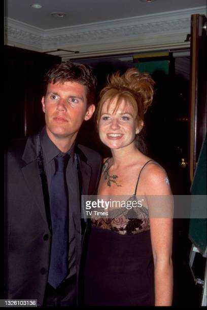 Actress Patsy Palmer and director Nick Love attending the BAFTA TV Awards at the Prince Of Wales Theatre in London, on May 18, 1998.
