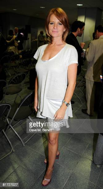 Actress Patsy Palmer attends a party hosted by chef Aldo Zilli in aid of Help A London Child at the Alfa Romeo Showroom June 26 2008 in London England
