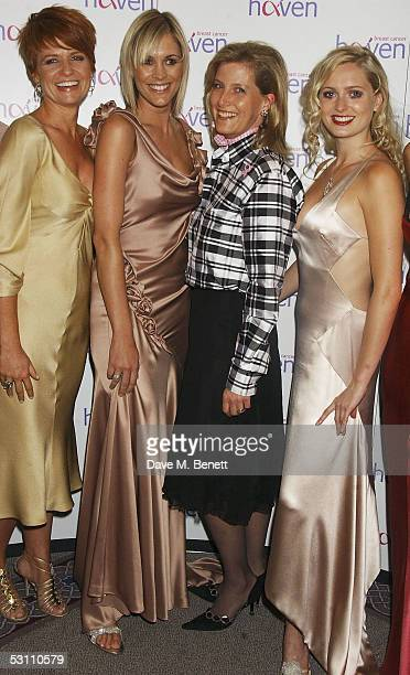 Actress Patsy Palmer TV presenter Jenni Falconer Sophie Countess of Wessex and actress Anouska De Georgiou arrive at the In The Pink charity party in...
