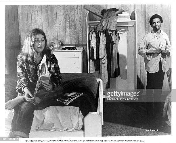 Actress Patty Duke and Actor Al Freeman Jr on the set of the Universal Pictures movie My Sweet Charlie in 1970