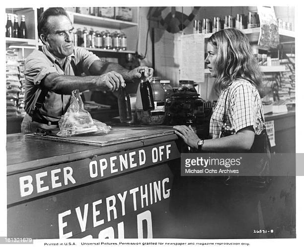 Actress Patty Duke and Actor Ford Rainey on the set of the Universal Pictures movie My Sweet Charlie in 1970