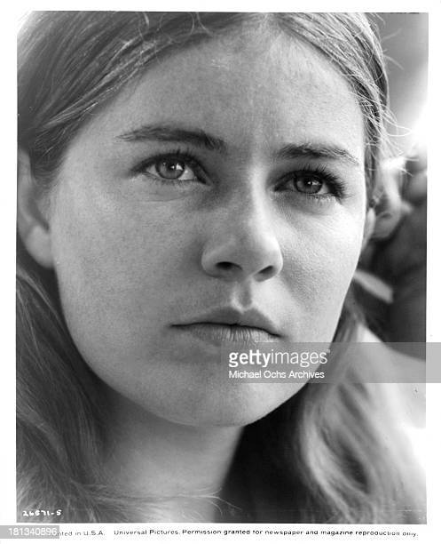 Actress Patty Duke poses on the set of the Universal Pictures movie My Sweet Charlie in 1970