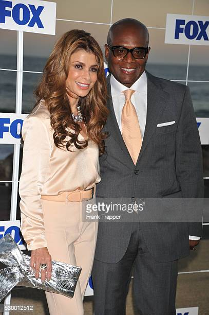 Actress Paula Abdul and producer Antonio LA Reid arrive at the Fox All Star Party 2011 held at Gladstone's Restaurant in Pacific Palisades