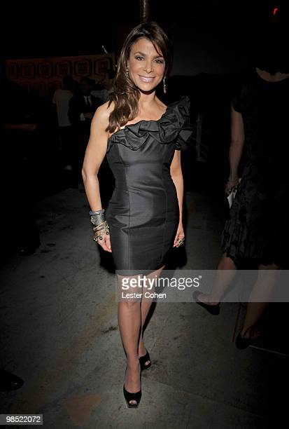 Actress Paula Abdul backstage during the 8th Annual TV Land Awards at Sony Studios on April 17 2010 in Los Angeles California
