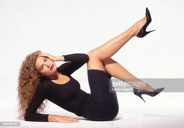 Actress Paula Barbieri poses for a portrait in 1991 in Los Angeles California