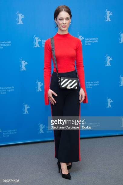 Actress Paula Beer poses at the 'Transit' photo call during the 68th Berlinale International Film Festival Berlin at Grand Hyatt Hotel on February 17...