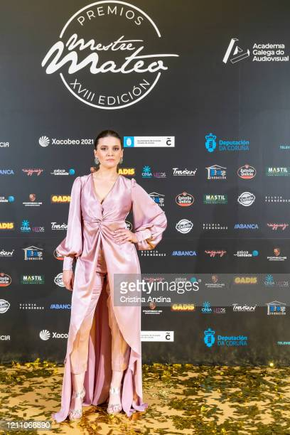 Actress Paula Cereijo attends the Mestre Mateo Awards in A Coruna on March 07 2020 in A Coruna Spain