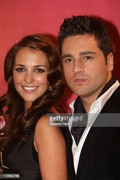 Actress Paula Echevarria and her husband David Bustamante attend the Glamour Awards party at Casino de Madrid November 6 2007 in Madrid Spain