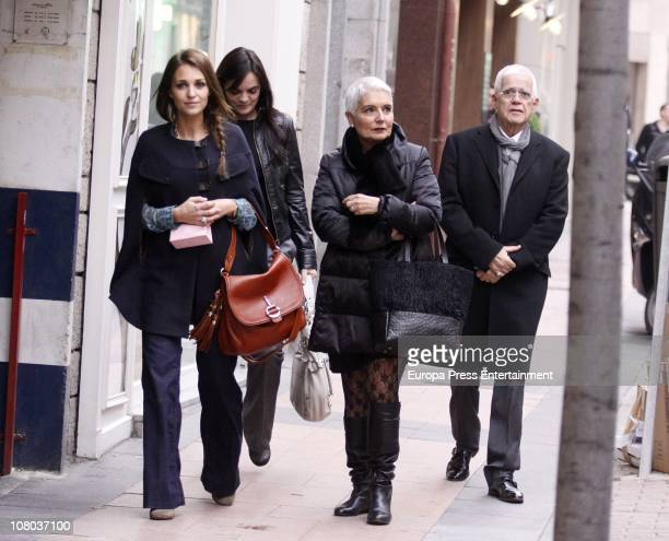 Actress Paula Echevarria and jewelers Rosa Tous and Salvador Tous are seen sighting on January 14 2011 in Madrid Spain