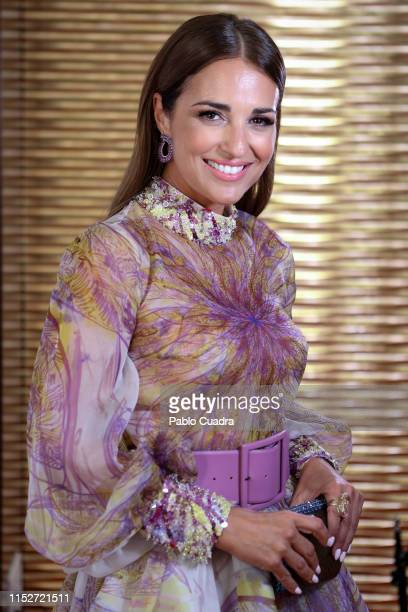 Actress Paula Echevarria attends ELLE Charity Gala 2019 to raise funds for cancer at Intercontinental Hotel on May 30 2019 in Madrid Spain