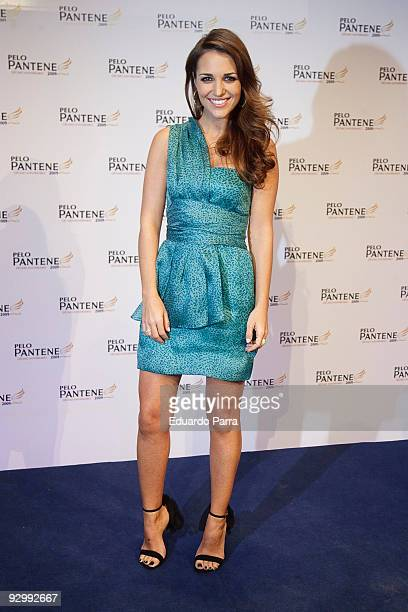 Actress Paula Echevarria attends Pantene's 10th anniversary party at the Royal Tapestry Factory on November 11 2009 in Madrid Spain