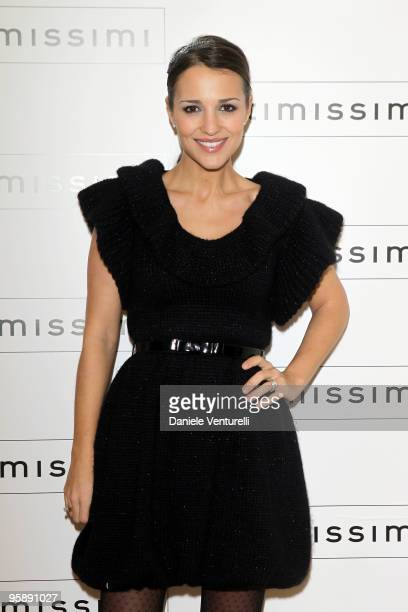 Actress Paula Echevarria attends the Intimissimi Spring/Summer 2010 Fashion Show on January 20 2010 in Dossobuono near Verona Italy