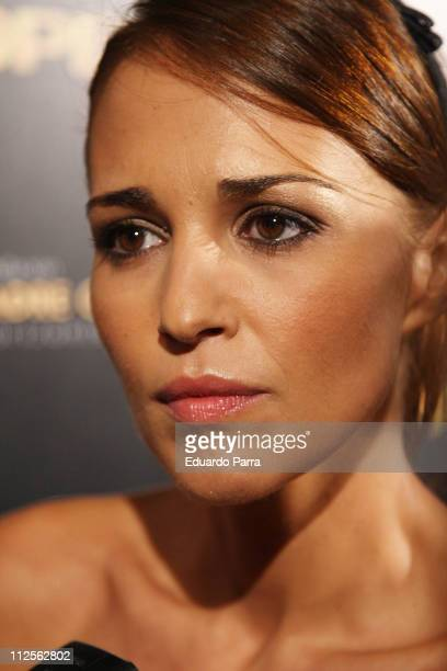 Actress Paula Echevarria attends the Opel Solidarity Party on October 23 2007 in Madrid Spain