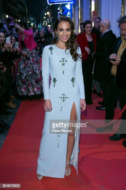 Actress Paula Echevarria is seen arriving to the 'Fotogramas de Plata' awards at the Joy Eslava Club on February 26 2018 in Madrid Spain