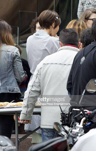 Actress Paula Echevarria is seen during the set filming of 'Galerias Velvet' on April 14 2016 in Madrid Spain