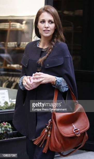 Actress Paula Echevarria is seen sighting on January 14 2011 in Madrid Spain
