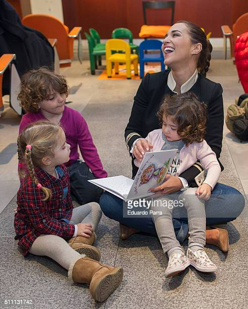 Actress Paula Echevarria presents 'Isabel Alas De Mariposa' tale at La Paz hospital on February 18 2016 in Madrid Spain