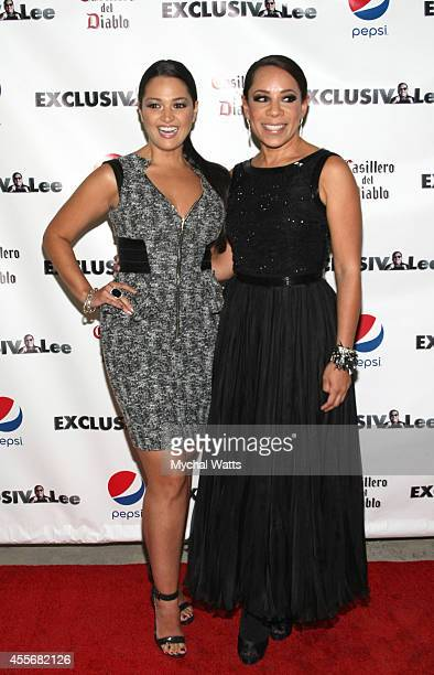 Actress Paula Garces and Actress Selenis Levya attends the Exclusivleecom Launch Party>> at Stray Kat Gallery on September 18 2014 in New York City