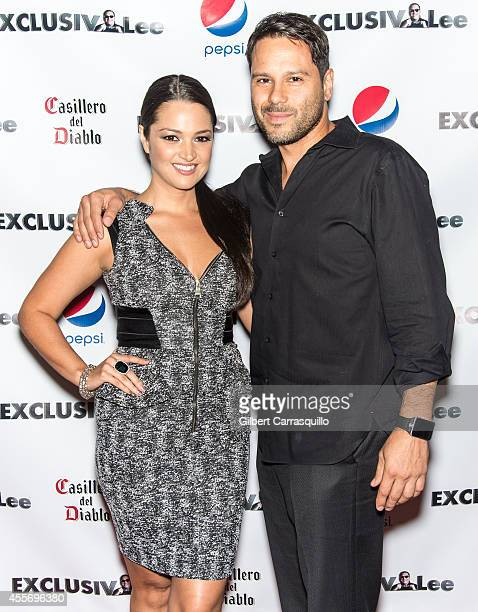Actress Paula Garces and husband Antonio Hernandez attend the New York Launch party for Exclusivlee.com at Stray Kat Gallery on September 18, 2014 in...