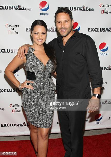 Actress Paula Garces and Husband Tony Hernandez attends the Exclusivleecom Launch Party>> at Stray Kat Gallery on September 18 2014 in New York City