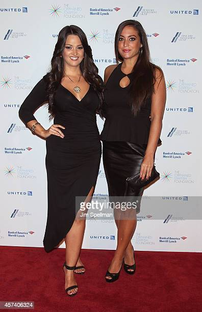 Actress Paula Garces and tv personality Sammi Giancola attend the 2014 Orphaned Starfish Foundation Gala at Cipriani Wall Street on October 17 2014...