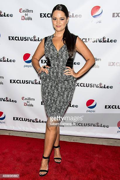 Actress Paula Garces attends the New York Launch party for Exclusivlee.com at Stray Kat Gallery on September 18, 2014 in New York City.