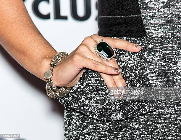 Actress Paula Garces attends the New York Launch party for Exclusivleecom at Stray Kat Gallery on September 18 2014 in New York City