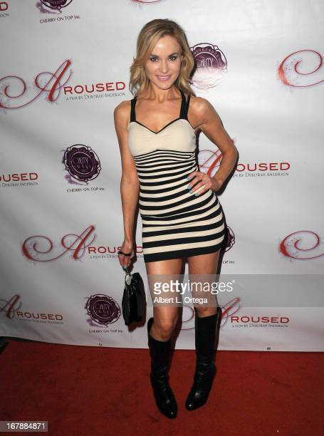 Actress Paula Labaredas arrives for the Premiere Of 'Aroused' held at Landmark Nuart Theatre on May 1 2013 in Los Angeles California