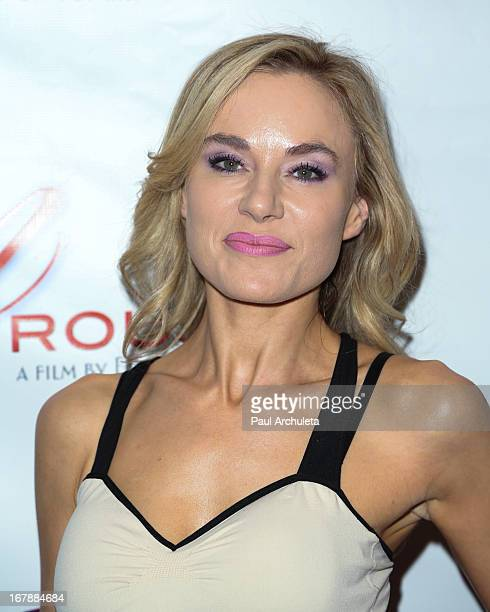 Actress Paula LaBaredas attends the Los Angeles premiere of 'Aroused' at the Landmark Theater on May 1 2013 in Los Angeles California