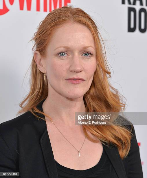 Actress Paula Malcomson arrive to an exclusive conversation with the cast of Showtime's Ray Donovan at Leonard H Goldenson Theatre on April 28 2014...