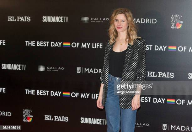 Actress Paula Munoz attends 'The Best Day Of My Life' Madrid premiere at Callao cinema on March 13 2018 in Madrid Spain