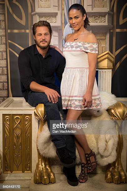 Actress Paula Patton and actor Travis Fimmel are photographed for USA Today on May 11 2016 in Los Angeles California